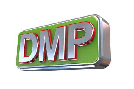 debt management: 3d illustration concept presentation of dmp - debt management plan
