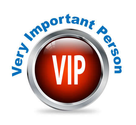 very important person: Illustration of shiny round glossy button of very important person - vip