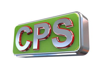 publisher: 3d illustration concept presentation of cps - cost per sale