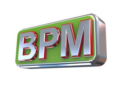 bpm: 3d illustration concept presentation of bpm - business process management Stock Photo