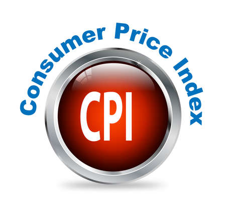 Illustration of shiny round glossy button of Consumer Price Index - cpi