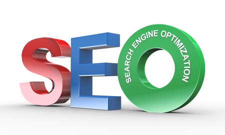 indexing: 3d illustration of presentation of seo - search engine optimization