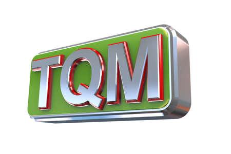 suppliers: 3d illustration concept presentation of tqm  - total quality management