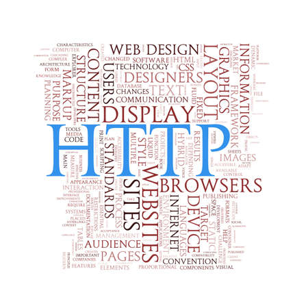 hypertext: Illustration of word tags wordcloud of http Hypertext Transfer Protocol