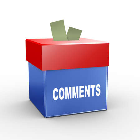 comments: 3d illustration of collection box of comments