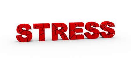depreciation: 3d illustration of cracked word stress