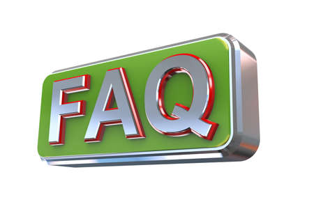 frequently: 3d illustration concept presentation of faq - frequently asked questions