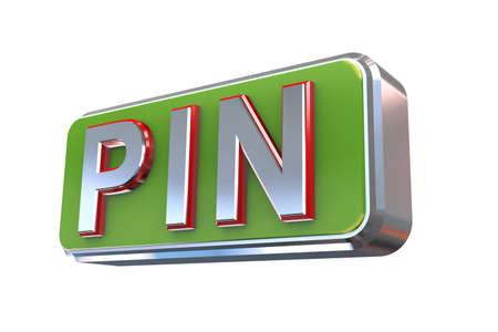 personal identification number: 3d illustration concept presentation of pin - personal identification number