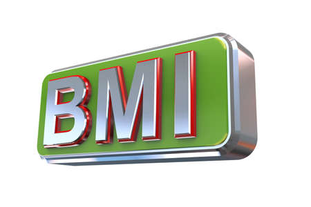 fondle: 3d illustration concept presentation of bmi - Body Mass Index Stock Photo