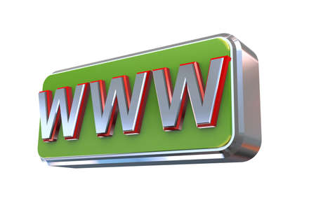 webhost: 3d illustration concept presentation of www -  world wide web Stock Photo