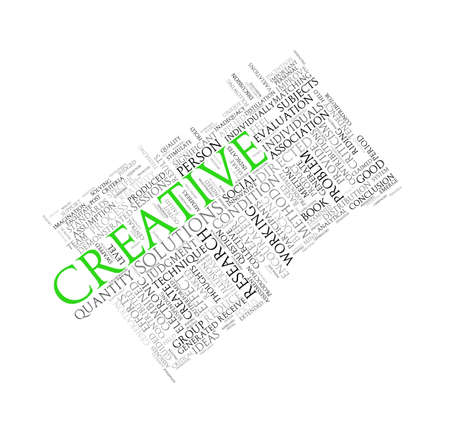 tagcloud: Illustration of wordcloud word tags of concept of creative
