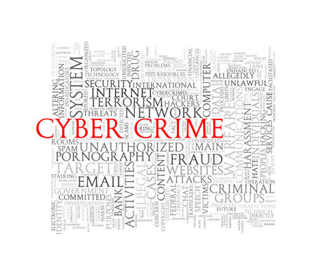tag cloud: Illustration of wordcloud word tags of concept of cyber crime