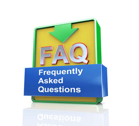 asked: 3d design illustration presentation of arrow banner of faq - frequently asked questions
