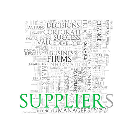 supplier: Illustration of wordcloud word tags of concept of supplier
