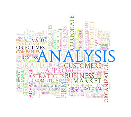 critique: Illustration of wordcloud word tags of concept of analysis