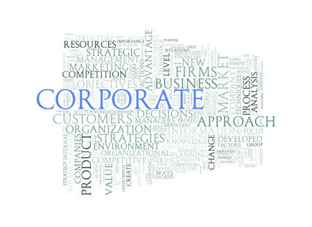 brand monitoring: Illustration of wordcloud word tags of concept of corporate