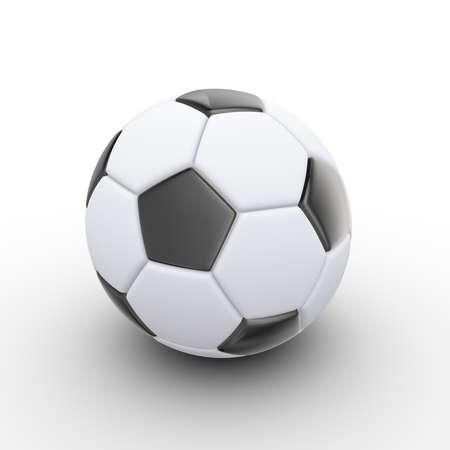 3d illustration of soccer football ball on white background