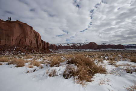 monument valley: Monument Valley in winter