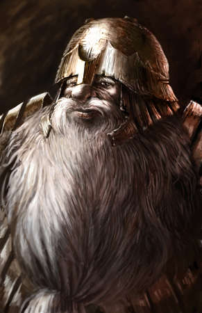 Dwarf warrior artwork
