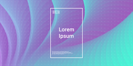 Wave Trendy background. Creative layout flow shapes. Minimal Geometric gradient layout wallpaper. Abstract Minimal Dynamic wavy elements. Template Cover Poster Flyer. Vector illustration EPS10.
