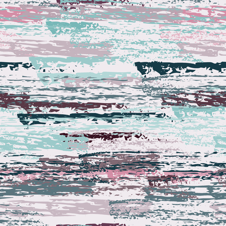 Grunge Stripes Line. Chalk Vector Textures. Seamless Pattern. Stripy Crayon Pencil Strokes. Hand Drawn Pastel. Summer Bright Stripes, Brushes. Horizontal Dirty Pinstripe Endless Repeating Elements. Illustration