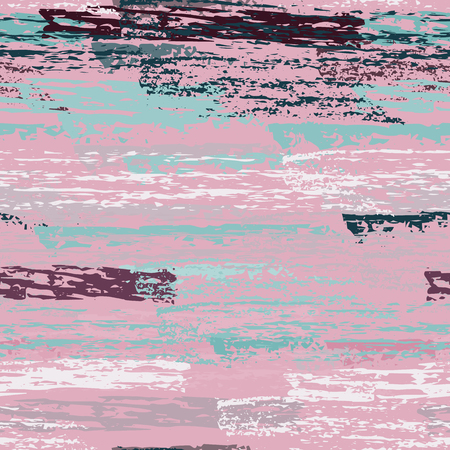 Grunge Stripes Line. Chalk Vector Textures. Seamless Pattern. Stripy Crayon Pencil Strokes. Hand Drawn Pastel. Summer Bright Stripes, Brushes. Horizontal Dirty Pinstripe Endless Repeating Elements.