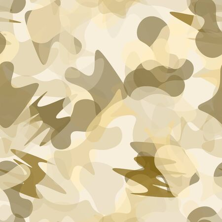 Camouflage Seamless Pattern. Texture Military Camouflage Endless Repeats.