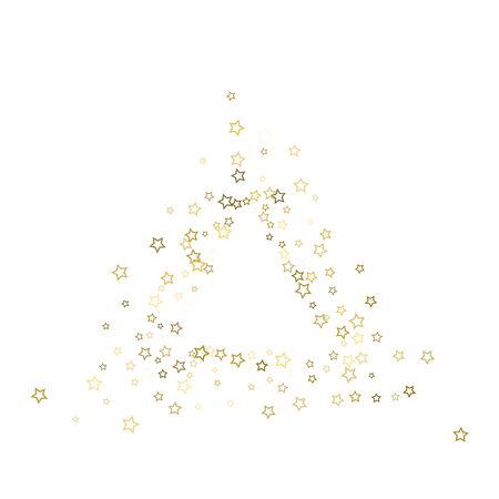 Gold Glitter Stars. Luxury Shiny Confetti. Scattered little sparkle. Flash glow silver, elements. Random magic tiny light. 스톡 콘텐츠