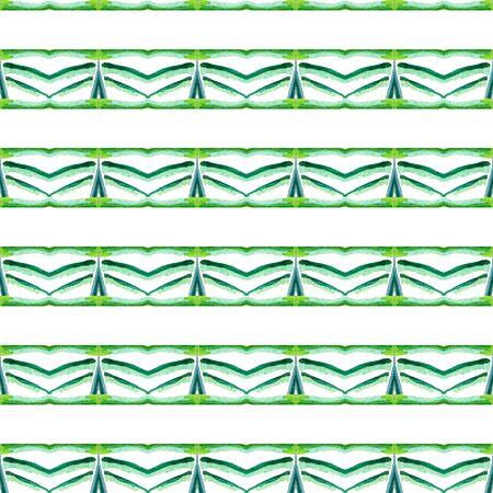Tribal Art. Endless Repeat Painting.  American Navajo, Cherokee Ornament. Geo Texture. Folklore Linen. Blue, Green, Lime, Mint Design. Geometrical Surface. 免版税图像 - 127768773