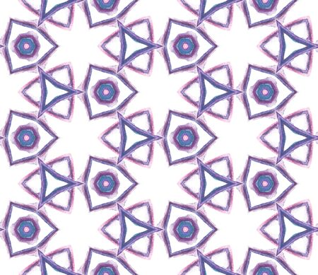 Chevron Geometric Hand Drawn Painted. African, Peru, Mexico, Navajo Seamless Pattern. Traditional Graphic. Modern Rug. Pink, Purple, Lilac Motif. Organic Pattern.