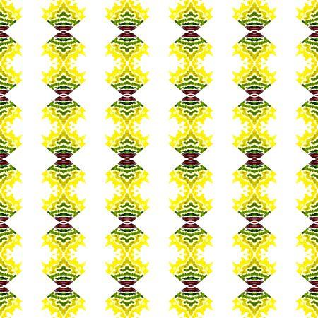 Textura tribal. Dibujado a mano pintado. Navajo, azteca, americano, cherokee de patrones sin fisuras. Textura étnica. Lino Vintage. Borgoña, Arte Verde. Superficie geométrica. Foto de archivo