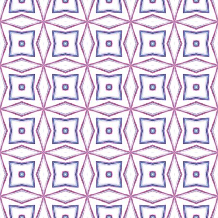 Tribal Texture. Hand Drawn Painted. Spanish, Talavera, Tunisian, Turkish Seamless Pattern. Geo Texture. Geo Native Fabric. Purple, Pink Element. Natural Element.