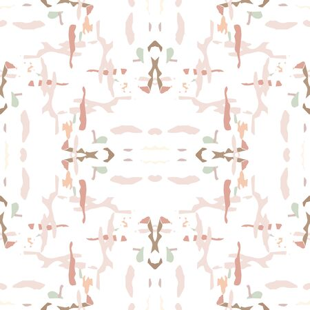 Ikat, Tie Dye. Batik, Hand Drawn Ornament. Geo Surface. Endless Repeat Painting.  Brown Ochre Summer Ethnic Modern Rug.  Graphic Geometrical Tie dye Pattern.