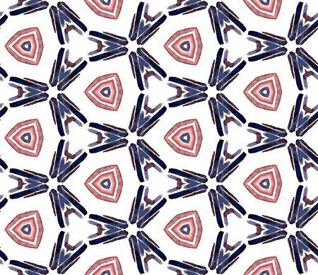 Tribal Texture. Hand Drawn Painted. Navajo, Aztec, American, Cherokee Seamless Pattern. Geo Texture. Vintage Rug. Pink, Purple, Lilac Ornament. Stripes Pattern.