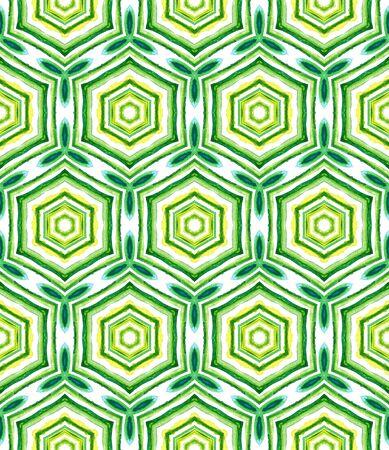Ethnic Texture. Hand Drawn Painted. Islam, Orient, Spanish, Talavera Seamless Pattern. Geo Art. Geo Ethnic Embroidery. Blue, Green  Element. Woven Pattern.