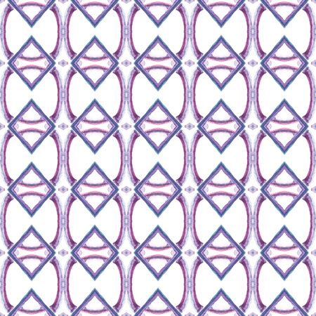Traditional Surface. Endless Repeat Painting.  Aztec  Navajo, American, Cherokee Ornament. Modern Abstract. Ethnic Fabric. Pink, Purple, Lilac Mosaic. Ornamental Surface.