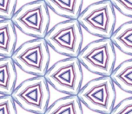 Modern Abstract, Endless Repeat Painting.  Mediterranean, Majolica, Azulejo, Portuguese Ornament. Geo Art. Geo Home Decor. Purple, Pink Surface. Ornamental Art.