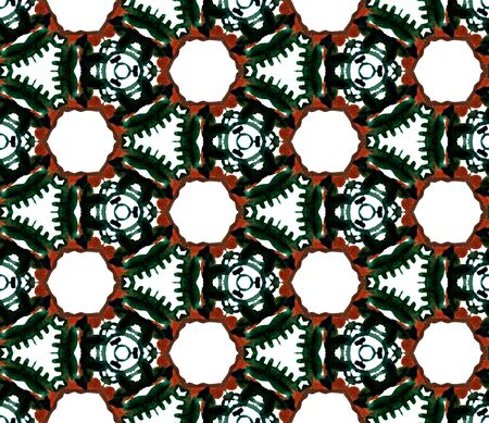 Traditional Graphic Hand Drawn Painted.  Mediterranean, Majolica, Azulejo, Portuguese Seamless Pattern. Ethnic Surface. Modern Home Decor. Black, Red Surface. Natural Motif.