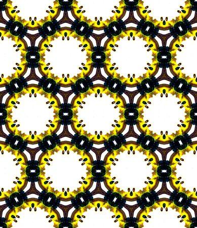 Ethnic  Art. Hand Drawn Painted. Cherokee, American, Navajo Seamless Pattern. Chevron Geometric. Modern Textile. Brown, Yellow, White Ornament. Geometry Element.