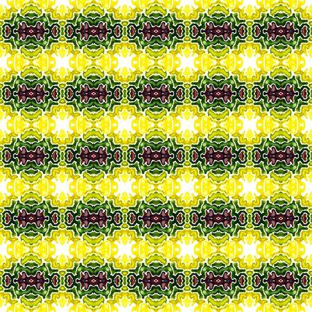 Traditional Graphic Hand Drawn Painted.  Talavera, Tunisian, Turkish, Arab Seamless Pattern. Tribal Texture. Modern Geo Embroidery. Burgundy, Green Art. Geometrical Motif.