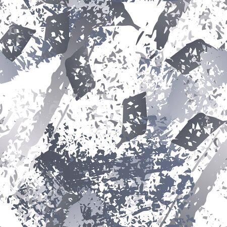 Worn Texture Splatter Surface. Paint Endless Repeating Elements. Artistic Cool Splash Trends Motif. Black and White Watercolor Overlay Surface. Abstract Brush Vector illustration. Ilustracja