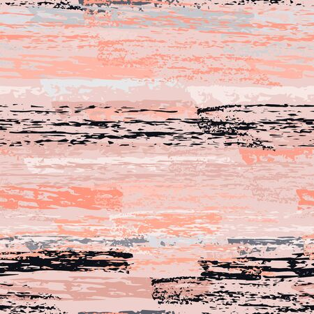 Horizontal  Brush Stroke Surface. Pinstripe Endless Repeating Elements. Sport Chalk Trends Motif. Pastel Pink Backdrop. Abstract Charcoal Surface. Brush Vector Background.