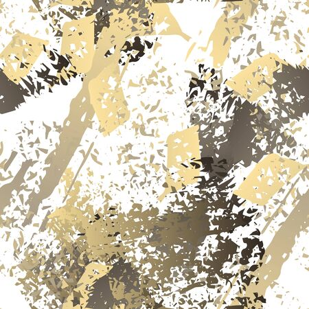 Grunge Dry Paint Surface. Watercolor Splatter Print. Seamless Pattern. Sport  Illustration Splash Trends Motif. Black and White Watercolor Overlay Surface. Abstract Brush Vector illustration.