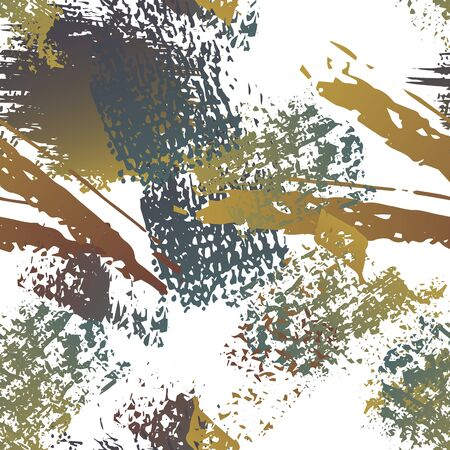 Distressed Splash. Watercolor Textures Surface. Seamless Pattern. Sport  Illustration Splash Print. Black and White Watercolor Overlay Surface. Abstract Brush Vector illustration. Illusztráció