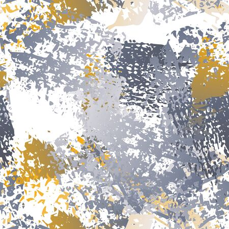 Distressed Splash. Watercolor Textures Surface. Seamless Pattern. Splatter Pattern. Artistic Trending Black and White Watercolor Overlay Surface. Abstract Brush Vector illustration.