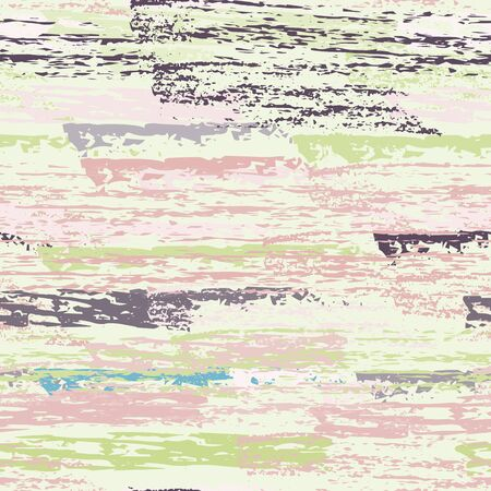 Distressed Stripes. Chalk Textures Surface. Seamless Pattern. Chalk Trends Motif. Cool Khaki and Camo Backdrop. Texture Scratch Overlay Surface. Brush Vector Background.