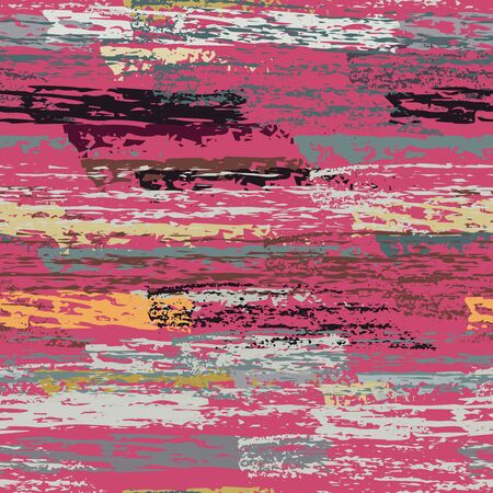 Distressed Stripes. Chalk Textures Surface. Seamless Pattern. Chalk Pattern. Creative Maroon and Burgundy Backdrop. Texture Scratch Overlay Surface. Brush Vector Background. Illusztráció