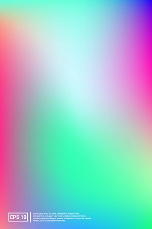 Holographic, Vector, Glossy Cover. Soft Color. Multicolor Screen Holographic, Pastel Cover Background.  Vibrant, Neon, Cool Image. For Web Applications, Mobiles, Screen Template. 向量圖像