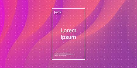 Blend Cover Poster. Geometric Design Poster. Wavy Liquid Magenta, Orange. Bright, Simple Layout. Minimal Dynamic Web Applications. Mobile Illustration Flyer. Vector Template Design.