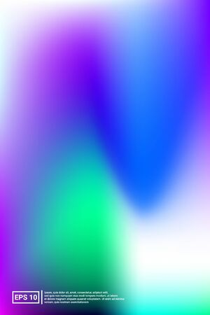 Holographic, Vector, Glossy Cover. Soft Color. Blue Screen Holographic, Pastel Cover Background.  Warm, Neon, Simple Background. For Web Applications, Mobiles, Screen Template. Ilustrace